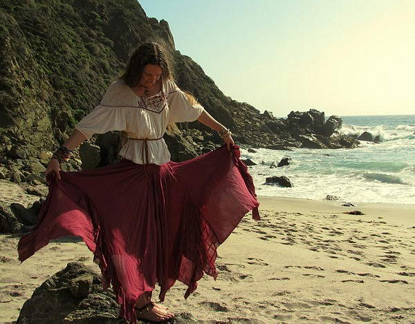 Fly Away Convertible Skirt in Elderberry