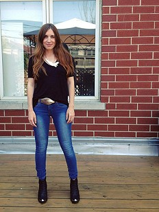 fp stretch skinnies and danica ankle boots
