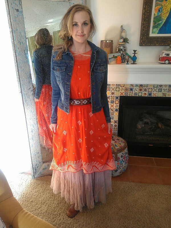 Raw Tulle Maxi Slip style pic