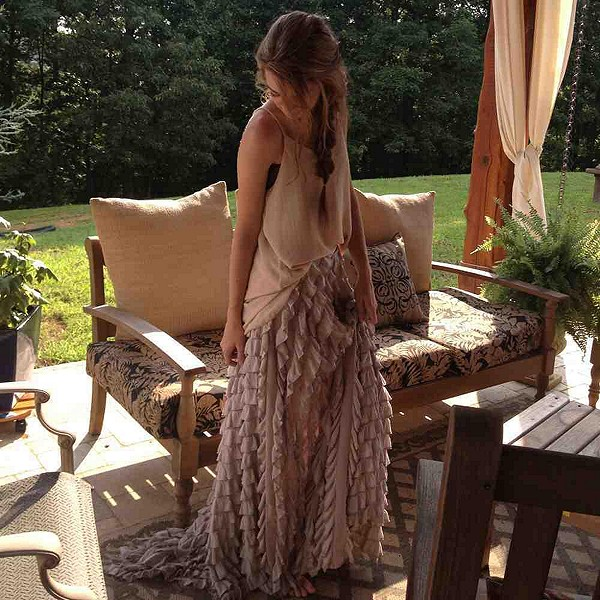 goofing off in my Lydia Maxi