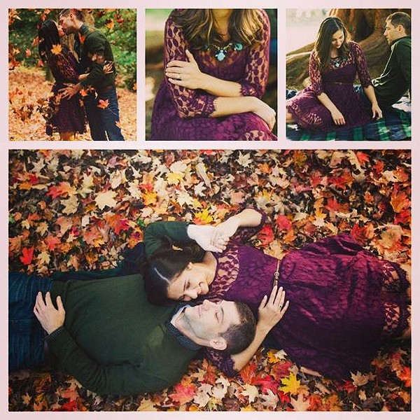 The FP Floral Mesh Lace Dress was the perfect choice for our engagement photos :) #love #engagement #fp