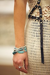 Stone Center Wrap Bracelet style pic