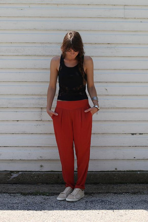 Easy Pleat Trousers style pic