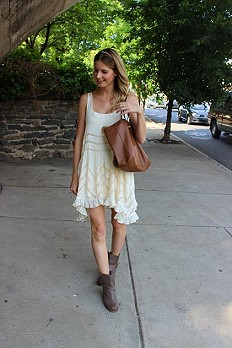 Voile and Lace Trapeze Slip style pic