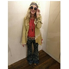 Lacey Inset Suede Jacket style pic