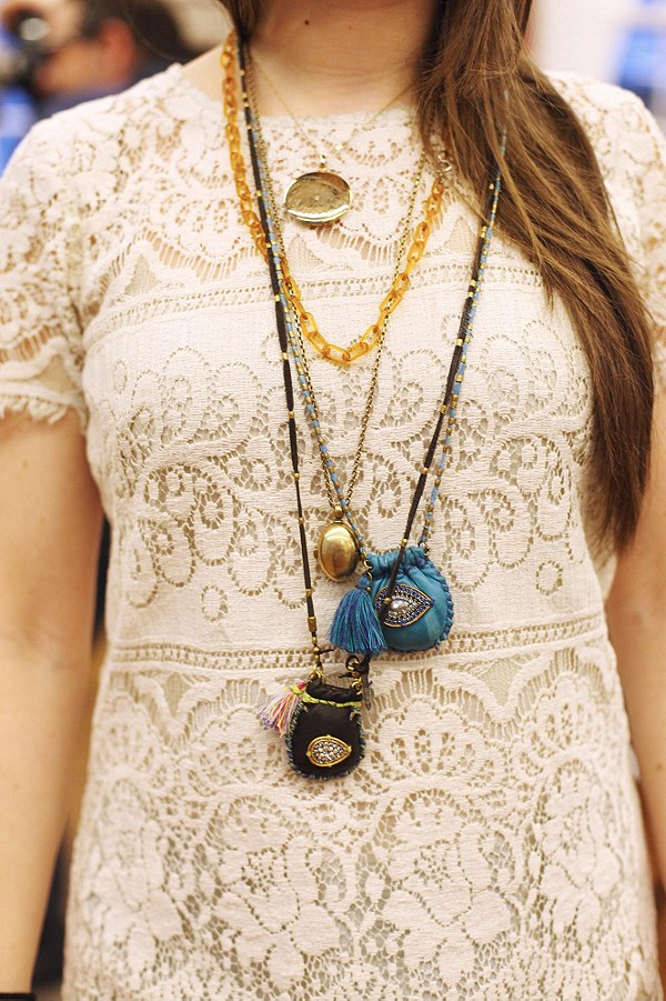 Stone And Charm Necklace style pic