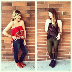 Mixed Lace Drop Tank style pic
