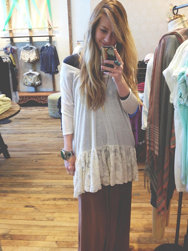 Shifty Shift Tunic with Mad Cool Maxi Skirt