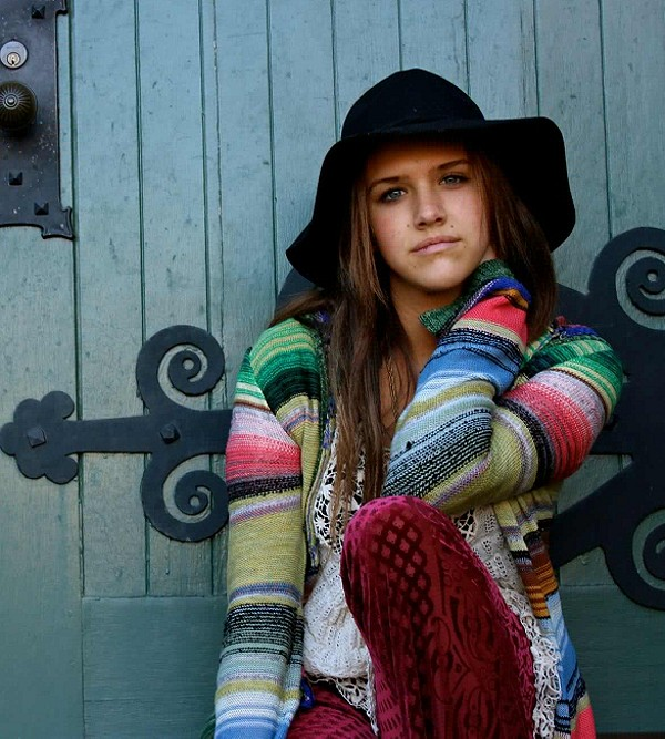 Hooded Color Spectrum Cardigan style pic
