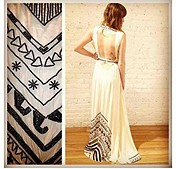 Beaded Silk Chiffon Gown style pic