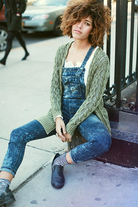 Washed Denim Overall style 