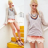 Tiered Eyelet Short style pic