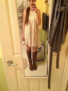 day dress with Johnny boots