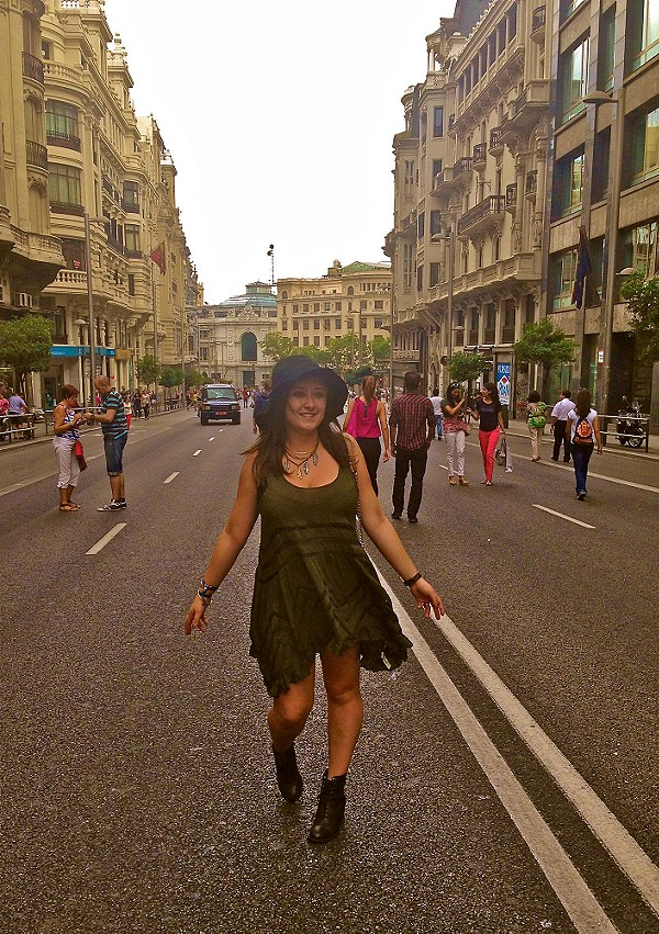 Voile and Lace Trapeze Slip meets Madrid