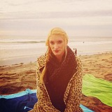 Leopard Swing Coat Meets the Pacific