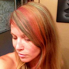 rainbow hairdo