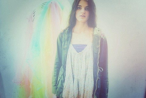 FP ONE Happy Blossoms Dip Dye Tank style pic