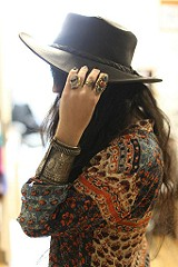 Fold Up Leather Hat style pic