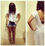 Dolphin Hem Denim Cut Off style pic