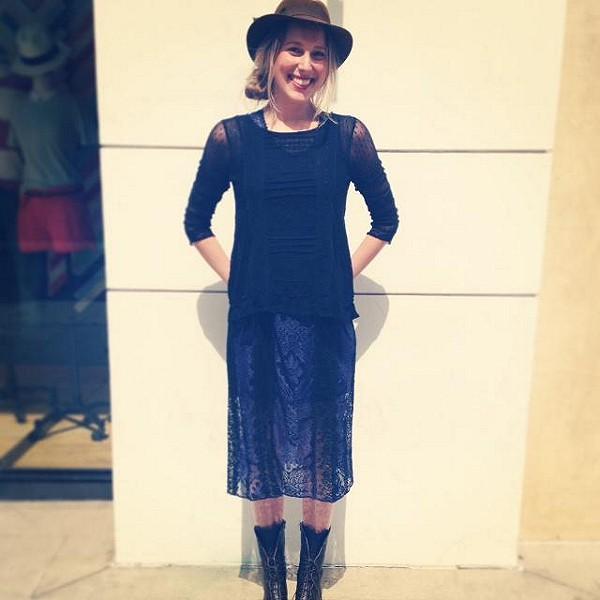 Miracle Lace Midi Dress style pic