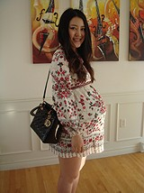 Russian Doll Dress baby bump style pic