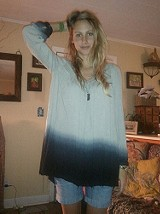 Dip Dye Long Sleeve Tunic style pic