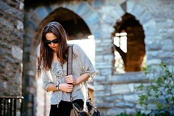 FP One Ruffle Me Up Striped Blouse style pic