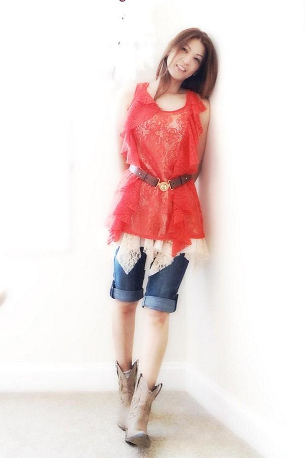Lovely Lace Godet Slip style pic