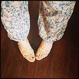 Printed Gauze Lounge Pant style pic