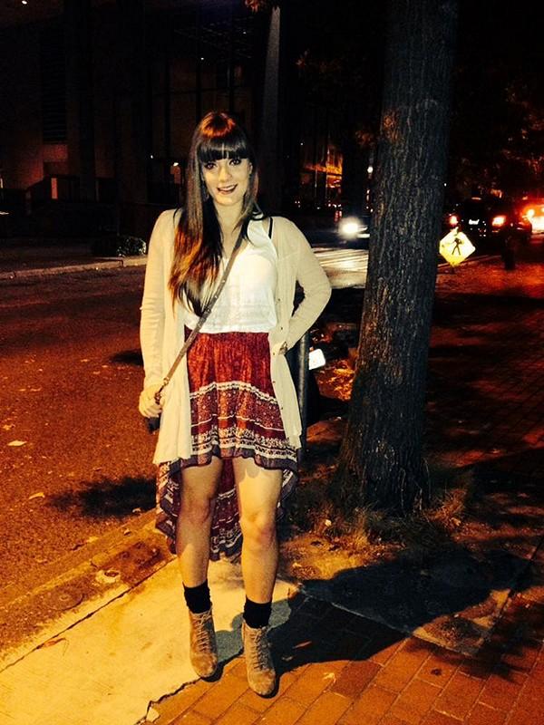 high/low skirt