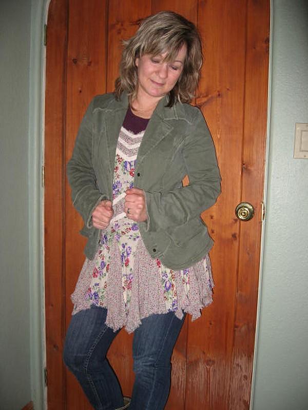 Ruffle Back Twill Jacket style pic