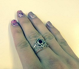 Etched Skinny Ring style pic