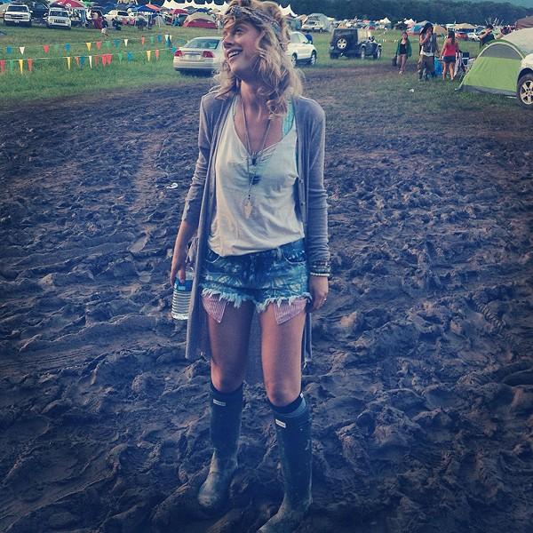 Having fun in the mud at Wakarusa