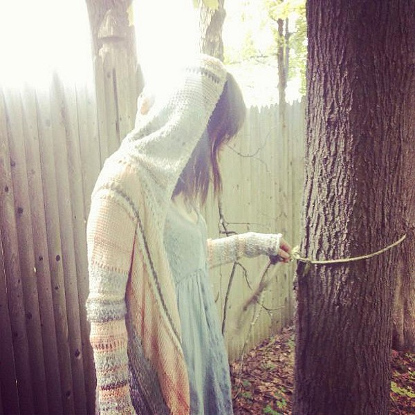 Act of Love Hooded Cardigan style pic