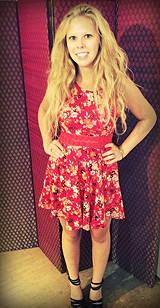 Floral Print Daisy Fit and Flare style pic