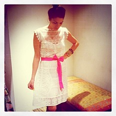 Satya Short Lace Dress style pic