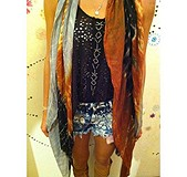 Shibori Print Cutoffs style pic