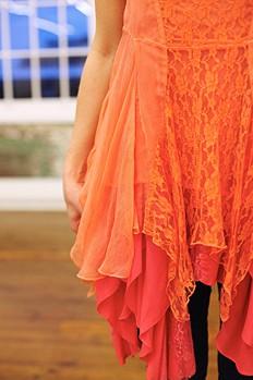 Long-Sleeve Lace Dropwaist Dress style pic