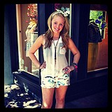 Floral Printed Denim Cutoff style pic
