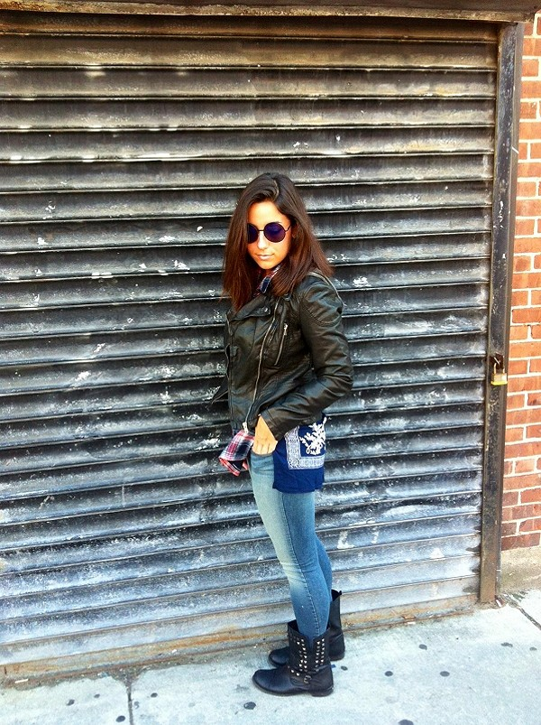 Vegan Leather Hooded Motorcycle Jacket style pic