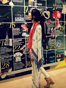 Printed Duster Scarf style pic