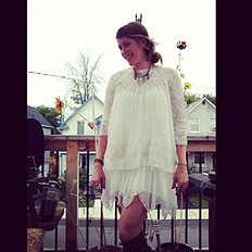 Cascades Of Ruffles Tunic style pic