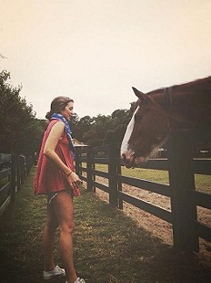 just a girl & her horse