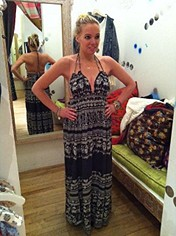 Printed Triangle Top Maxi Dress style pic
