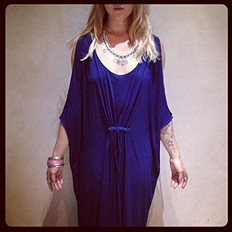 Cold Shoulder Long Kaftan style pic