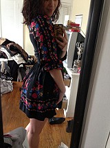 Age of Aquarius Print Dress style pic