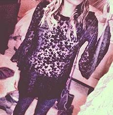Noir Velvet Tunic style pic