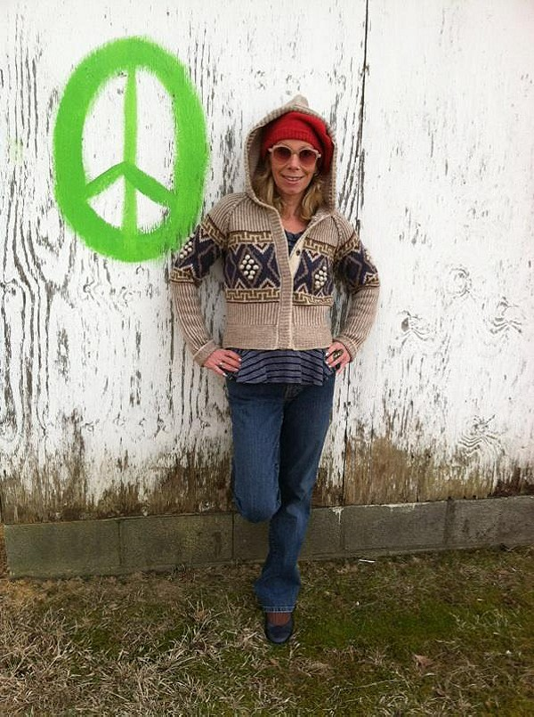 Sweater, Auntie Em top, Beret, Sunglasses and even shocks look SO BEAUTIFUL on my lovely daughter, Maria!