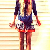 Color Between Borders Smocked Skort style pic