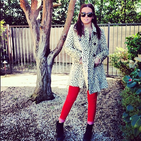 Leopard Swing Coat style pic
